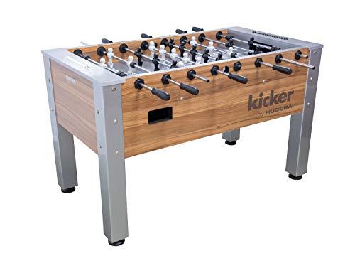 HUDORA Kickertisch Platin Kicker Edition Tischkicker Tischfussball Kicker Kickerspiel Fussballkicker Spieltisch Fussballkickertisch