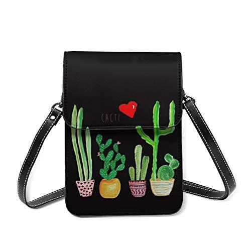 Cacti Cactus Love Artical - Bolso de hombro para interior y mujer, diseño de cactus