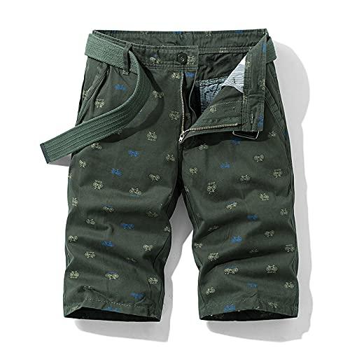 ShFhhwrl Pantalones Cortos Deportivos De Verano Sueltos para Correr Los Hombres del Color Sólido De Bicicletas Impresióndel Pa