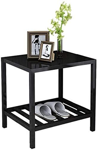 Nachttisch, Nachttisch, Zuhause, Schlafzimmer, Hotel, Beistellschrank, quadratisch, einfacher Mini-Beistelltisch (Farbe: schwarz)