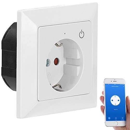 Luminea Home Control Smart Home: WLAN-Unterputz-Steckdose mit App, für Siri, Alexa & Google Assistant (Smarthome-Steckdosen Unterputz)