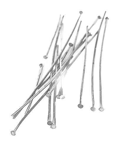 Stifte für Zauberperle, ca. 70mm, 50 Stück Silber