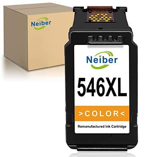 Neiber 546XL Wiederaufbereitet Tintenpatronen Kompatibel für Canon CL-546XL für Pixma TS3150 TS3151 TS205 TS305 MG2555S MG3050 MG2550 MG2550S MX495 TR4550 iP2850 (1 Farbe)
