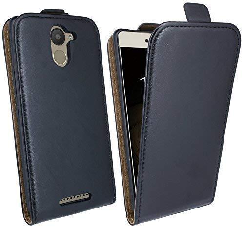 ENERGMiX Klapptasche Schutztasche kompatibel mit BQ AQUARIS U Plus in Schwarz Tasche Hülle Flip-Cover Hülle Schale