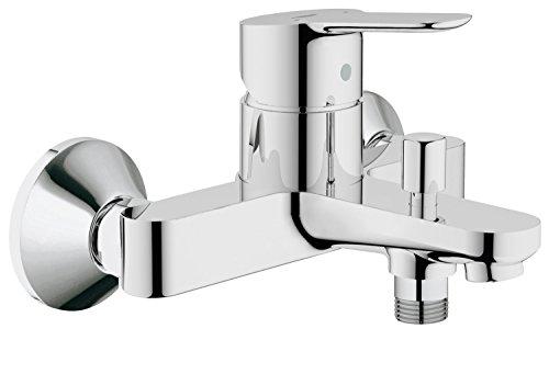 GROHE BauEdge | Badarmatur - Einhand-Wannenbatterie, mit automatischer Umstellung für Badewanne und Dusche und Keramikkartusche| chrom | 23334000