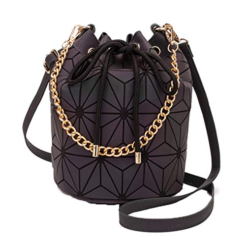 Luminous Geometric Bucket Bag Variety Handbags Rhombus Shoulder Bag Ladies Chain Bag Diagonal Bag(Size:30 * 19 * 25cm,Color:Luminous)