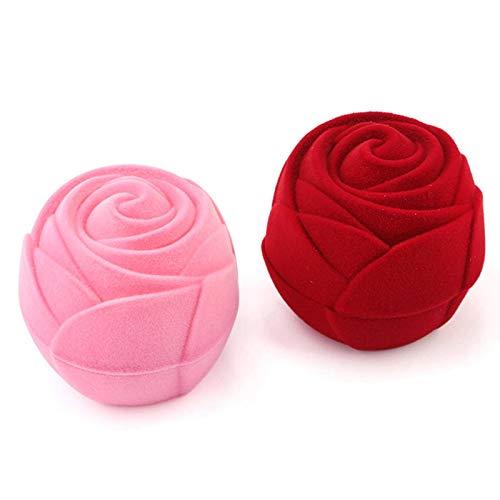 N-B Espositore per Gioielli con Orecchini a Forma di Fiore di Rosa con portagioie in Velluto Adorabile
