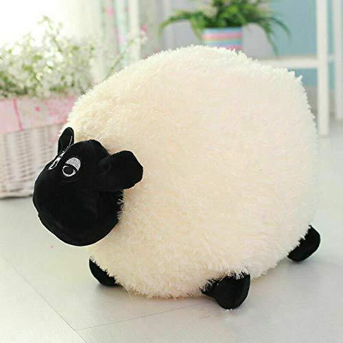 Adoture Cojín de peluche suave y esponjoso con diseño de oveja, para bebés y niños, juguete de peluche para el hogar, (25 cm), color blanco