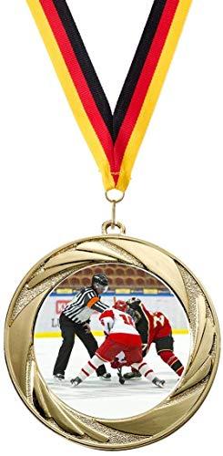 Verlag Reiner Kullack 50er-Set Medaillen »Eishockey«, mit 50 mm Sportfoto-Emblem (Metall, bunt)