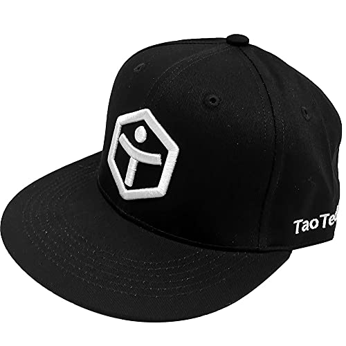 TaoTech スナップバックキャップ 帽子 ベースボールキャップ 野球帽 ベースボール フラットパネル帽子 男女兼用 (フリー, ベースボール/ブラック)