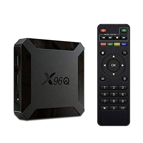 SUNNZO S9 Pro 4K-TV-Box für Android 9.0 OS mit Multimedia-Streaming-Player,Quad-Core-Chipsatz RK3318,64 Bit,2,4 GHz + 5 GHz Dual-Band-WLAN,USB 3.0.4K HD,H.265 4+32GB Schwarz