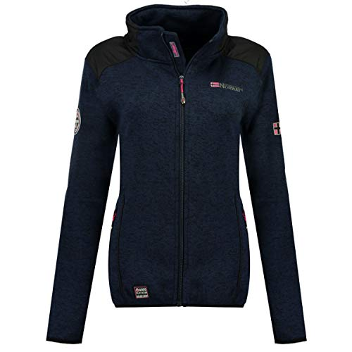 Geographical Norway, chaqueta Softshell de dos materiales, contrecolada polar modelo TouRBILLONE Lady,...