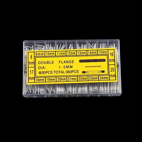 360 pcs 6-23mm Uhren Edelstahl Federstege Uhr Armband Balken Federsteg