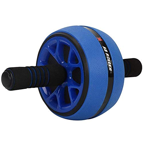 Bauchroller Ab Roller, Abdominal Roller Bauchtrainer Wheel zum Fitness Bauchtraining Muskelaufbau für Frauen Männer das Heim-Fitnessstudio Unisex Fitness Resistance Roller (Color : Blue)