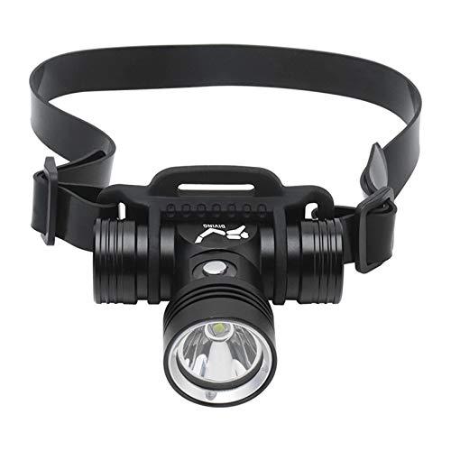 ALISUO Bylk ACDD 60M FOTOGRAFÍA DE Video DE Video LINTURAL DE FIRIR Linterna de Buceo con función de la Pantalla de la batería (Color : Headlight)