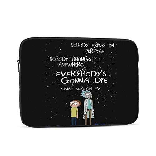 LKJHG Rick & Morty Oxford Laptop case, Portable Business Laptop Lining Protective Bag, Compatible with 10-17 inch MacBook Pro/MacBook Air