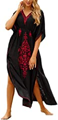 Cotton Long Kaftan Maxi Dress for Women