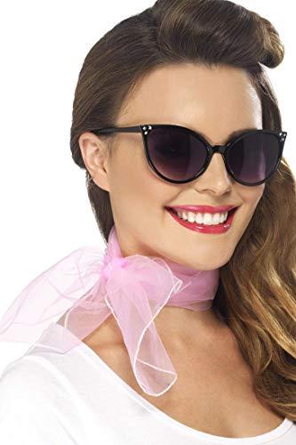 Smiffys dames jaren '50 stijl halsdoek, chiffon look, één maat, roze, 22750