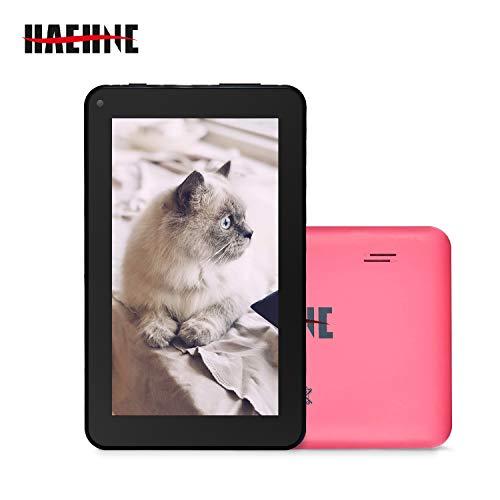 Haehne 7 Zoll Tablet PC, Google Android 9.0 GMS Zertifiziertes, HD Bildschirm, 1GB RAM 16GB ROM, Bluetooth, WiFi, Rosa