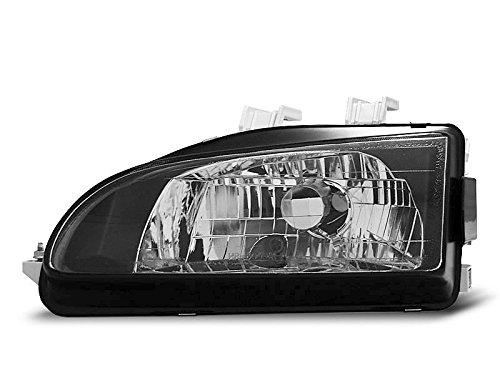 1 paar koplampen Civic Coupe 91-95 zwart (O15)
