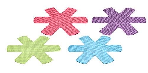 Kitchen Craft Colourworks-Protezioni AntiGraffio per padelle, 38 cm, Colori Vivaci (Confezione da 4), Poliestere, Multicolore, 35 x 1 x 39.5 cm, 4 Pacco