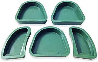 Dental Creations Wondertech Silicone Base Formers – Reusable Dental Lab Model Former Mold Tray – 5 Pieces