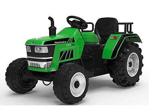 Indalchess Tractor ELÉCTRICO 12V para NIÑOS, Mando RC Parental, Verde - AC-HL2788G