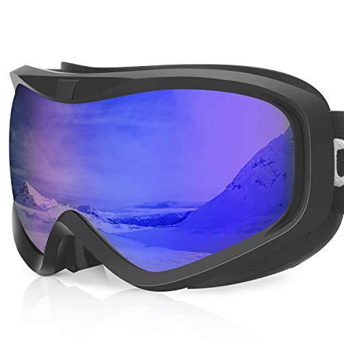 devembr Gafas de Esquí y Snowboard, Gafas Ski Mujer/Hombre, Gafas Nieve OTG,Anti-Niebla, Gafas Ventisca para Snowboard,Esquí,Skating y Otros Deportes de Nieve, Montura Negra, Lente Azul (VLT 19{1c4ad684e795f2d858c37923b55fb831d9d2fad07d6e3fdd61e0d0065d925594})