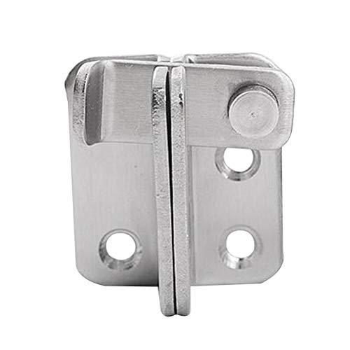 Yardwe Sicherheitstürriegel Türriegel Riegel Verdickter Edelstahl Schlafzimmer Tür- und Fensterriegel Rechte Öffnung (Silber)