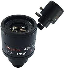 Ctzrzyt CCTV Lens 1/2.5 inch 6-22mm 5MP M12 Mount varifocal Lens F1.6 for 4MP/5MP CMOS/CCD Sensor Security IP/AHD Camera