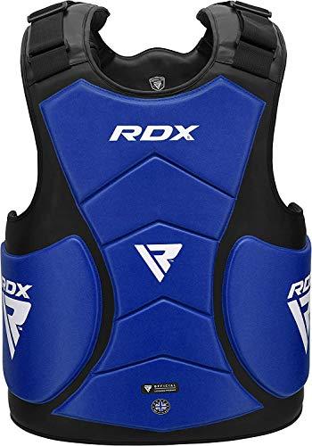 RDX Protector de Pecho Protección De Cuerpo MMA Boxeo Armadura del Pecho Artes Marciales Protectora Deportiva Almohadilla Vientre Taekwondo Entrenamiento Shield