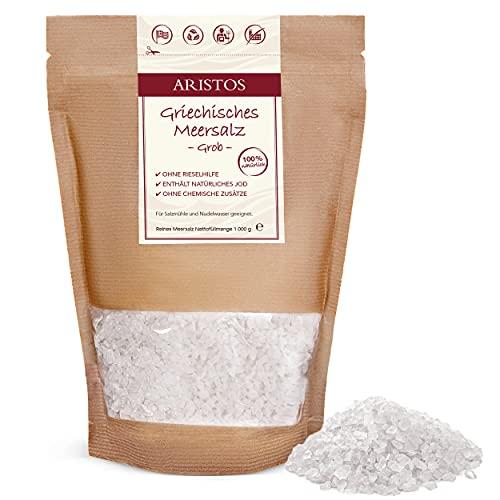 Grobes Meersalz   1kg Salz aus Griechenland für Salzmühle, Nudelwasser uvm   ARISTOS