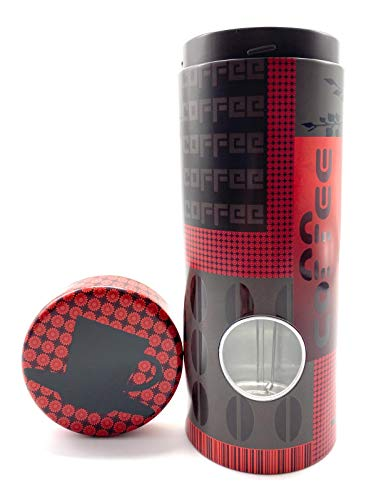 Perfekto24 Aufbewahrung kaffeepads - Kaffeepaddose hält die Pads länger frisch - Pad Dose für Senseo Pads - Vorratsdsdose für Kaffeepads - Plus Padheber