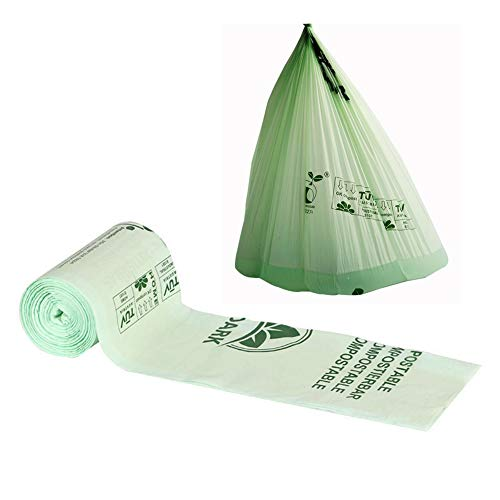 Biodégradable Bin Liners, Petit Sac Poubelle Sac Poubelle De Recyclage 100% Sacs Biodégradables Fabriqués À Partir De Fécule De Maïs,Vert,36x35cm