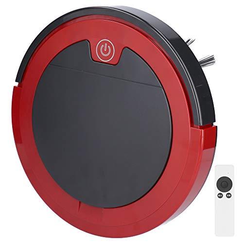 SALUTUYA Spazzatrice Intelligente con Telecomando, Robot Spazzatrice per Polveri Ricaricabile USB, Aspirapolvere Robot Aspirapolvere Spazzatrice con Telecomando DC5V (Rosso)