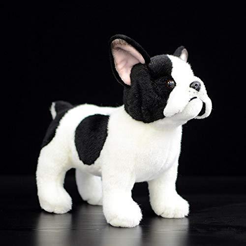 Juguete De Peluche 20 Cm Perro Pastor Alemán Peluches Vida Real Pie Francia Bulldog Perro Realista Suave Muñeco De Peluche Niños Bebé
