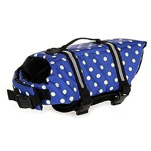 TESOON Dog Life Jacket Dog Vest Pet Reflective Life Preserver Size XXS