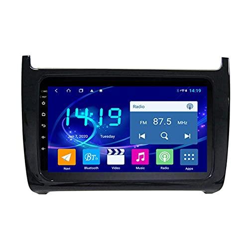 Gndy Coche Navegación System 9' Android 9.1 Car GPS Navegación Reproductor De para Volkswagen Polo 2011-2018 | Pantalla LCD Táctil | USB | WLAN | 4.0 Bluetooth