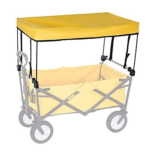 LUOQI Al Aire Libre Tire del Techo del Coche para el Coche de Camping, carros pequeños, Tiendas de comestibles, carros, carritos, cochecitos,Plegable portátil Carro Accesorios- toldo