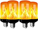 Bombillas de llama, 4 Modo de luz Regulable Filamento LED, E27 Vidrio Matte Luces...