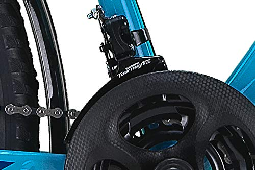 26 Zoll Fahrrad 21-Gang Shimano Schaltung mit Beleuchtung nach STVO Türkis Doppelrahmen - 4