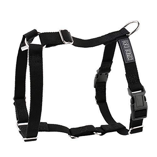 KURI PAI® Hundegeschirr, schwarz, Größe M, H-Geschirr für mittelgroße Hunde, Umweltfreundlich aus Bambus
