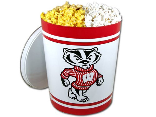 Best Price Wisconsin Badger Gourmet Popcorn Tin - 3.5 Gallon, Gourmet White Popcorn