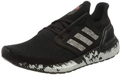 adidas Ultraboost 20, Men's Running Shoe, Core Black/Ftwr White/Signal Coral, 4.5 UK (37 1/3 EU)