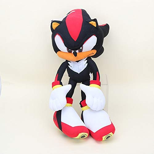 Sonic Plush 2 unids/Set 50cm Sonic el Erizo de Peluche Super Big Big Sonic Pelush Hedgehog Toy Silver The Hegdehog Cosplay Disfraz Soft Relleno Mueca yuechuang