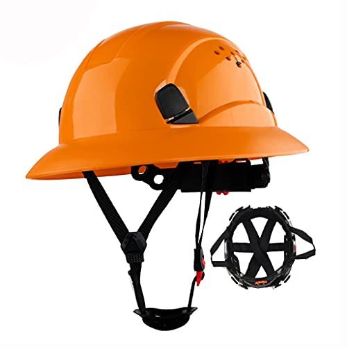 ZDDZ PICC Underwriting Casco de ala Completa Soporte para Casco de Suspensión de 6 Puntos Tipo de Perilla para Ajustar El Tamaño para Construcción Electricidad Instalación Operaciones a Gran Altitud