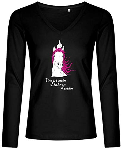 BlingelingShirts elegant glitter shirt met lange mouwen dames carnaval Dat is mijn eenhoorn kostuum Unicorn Longsleeve
