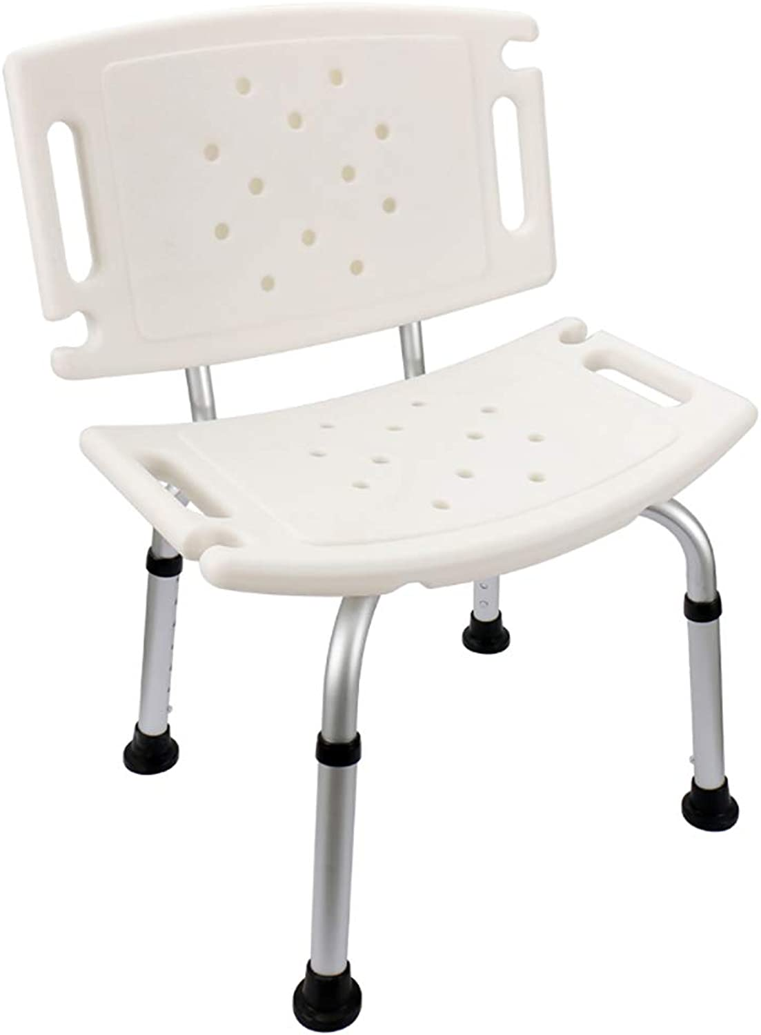 Baiyun flyin Mai ? Adjustable Shower Chair, Multi-function Non-slip Shower Bench, Pregnant Woman Shower Chair, With Armrests And Back, White