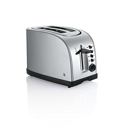 WMF Stelio Toaster Doppelschlitz Brötchenaufsatz (980 W, 7 Bräunungsstufen Bagel-Funktion Überhitzungsschutz) edelstahl matt