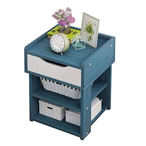 DYB Home Tavolino da caffè Piccolo in Legno a 2 Livelli, tavolino Quadrato Rimovibile per dormitorio, Comodino Multifunzionale per Camera da Letto, scrittoio per dormitorio per Studenti, Blu